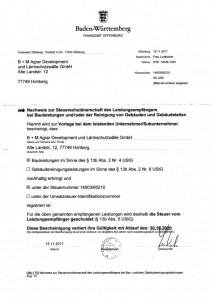 Steuerschuldnerschaft. B+M_Screenshot